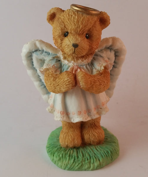 "Cherished Teddies Angel Figurine Angie ""I Bought The Star"" 1992 #951137 In Box - Treasure Valley Antiques & Collectibles"