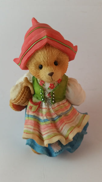 "Cherished Teddies Girl Wearing Hat Figurine Sweden ""You're The Swedish Of Them All"" - Treasure Valley Antiques & Collectibles"