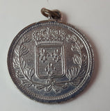 Early 1900s Republic Francaise French Coin Necklace Pendant - Treasure Valley Antiques & Collectibles