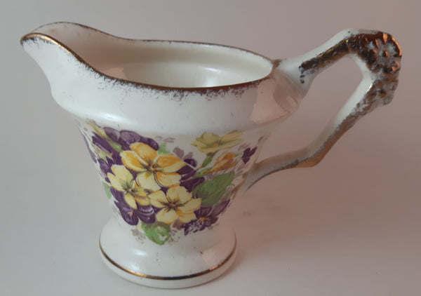 1940s James Kent Ltd. Diamond Floral Creamer Pattern 4002 Longton, England - Treasure Valley Antiques & Collectibles