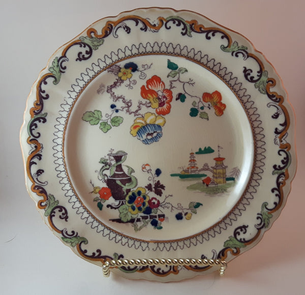 Antique 1920s Mason's Ironstone Imari Salad Plate C 2504 ***Stand not included*** - Treasure Valley Antiques & Collectibles