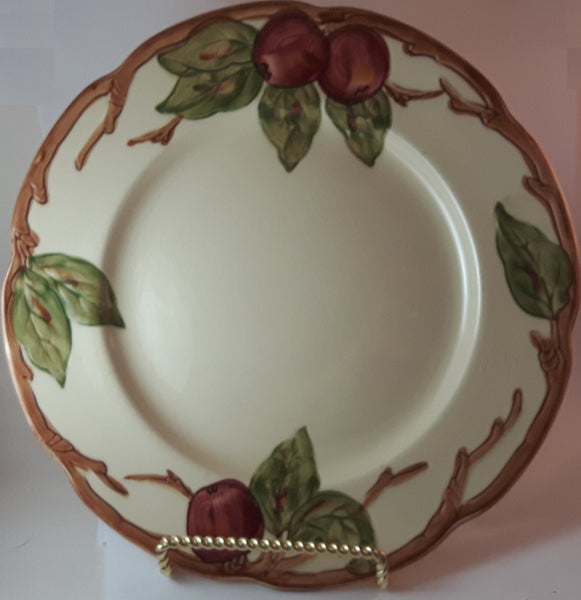 Vintage 1941-1947 Franciscan Ware Apple Pattern Dinner Plate California Hand Decorated - Treasure Valley Antiques & Collectibles