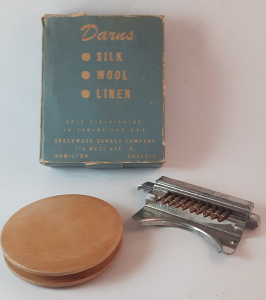 Antique 1940s Mechanical Loom Speedweve Darner in Box - Treasure Valley Antiques & Collectibles