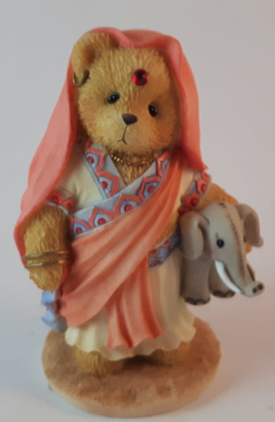 "Cherished Teddies Girl Holding Elephant Figurine India ""You're The Jewel Of My Heart"" - Treasure Valley Antiques & Collectibles"
