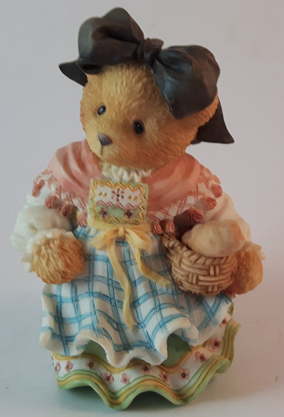 "Cherished Teddies Girl With Basket of Bread Figurine France ""Our Friendship Is Bon Appetit!"" - Treasure Valley Antiques & Collectibles"