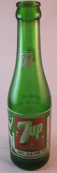 Vintage 1960s 7up 7 oz Glass Bottle Joliet Chicago, Illinois - Treasure Valley Antiques & Collectibles