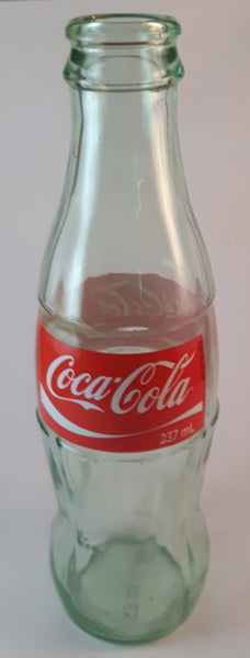 Collectible Canadian Kosher Coca-Cola 237 mL 8oz Green Tinted Glass Bottle (Does not say Coke) - Treasure Valley Antiques & Collectibles
