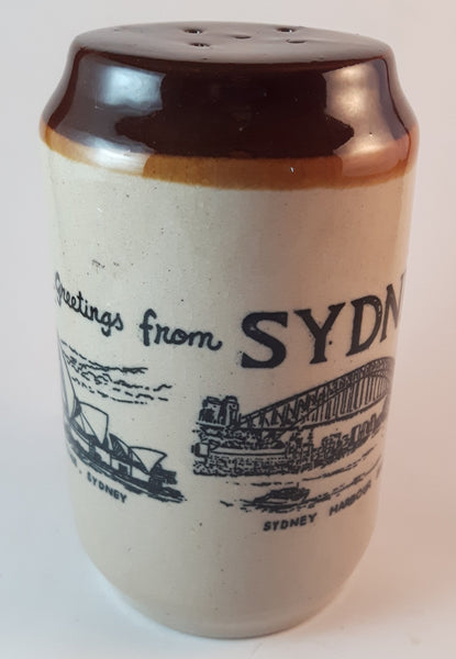 "Vintage ""Greetings From Australia"" Sydney Ceramic Sugar or Salt and Pepper Shaker"