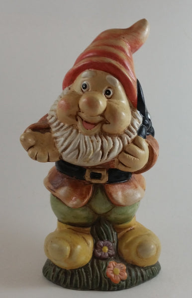 "Vintage Snow White ""Happy"" Dwarf Ceramic Figurine - Sabre of Montreal Made in China - Treasure Valley Antiques & Collectibles"