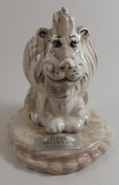 1980s Made with Mount St. Helen's Volcanic Ash Lion Sculpture by Thomas E. - Treasure Valley Antiques & Collectibles