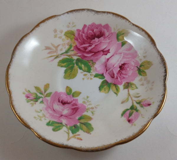 1950s Royal Albert American Beauty Pink Roses Saucer Plate - Treasure Valley Antiques & Collectibles
