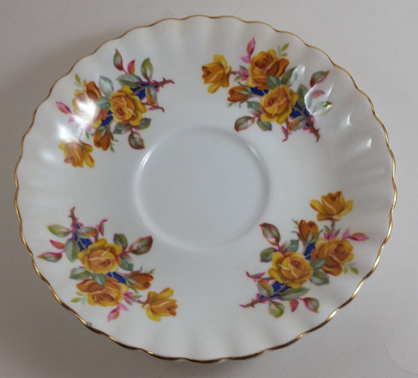 Vintage 1970-1980 Royal Albert Yellow Flower Saucer Plate - Treasure Valley Antiques & Collectibles