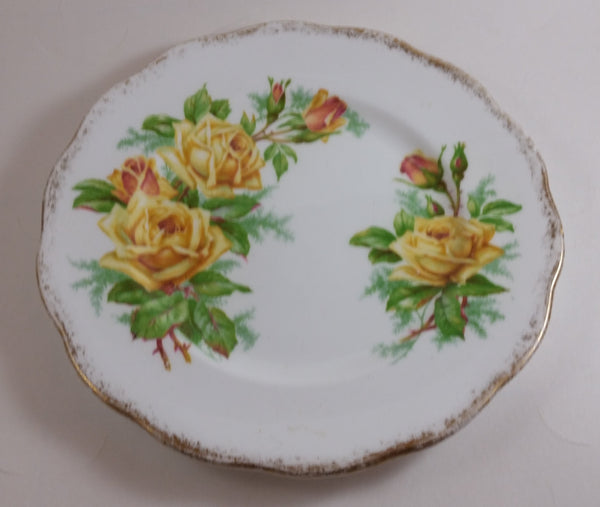 "1950s Royal Albert ""Tea Rose"" Yellow Bone China Salad Plate"