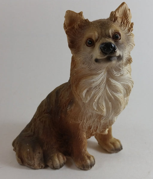 Vintage Resin Sheltie Yorkshire Terrier Dog Figurine - Treasure Valley Antiques & Collectibles