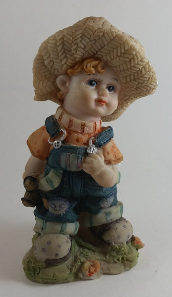 Vintage Cute Farm Girl Resin Figurine - Sabre of Montreal - Treasure Valley Antiques & Collectibles