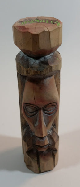 Vintage 1970s Hand Carved Wood Tiki Totem Head - Treasure Valley Antiques & Collectibles