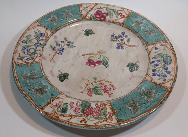 Vintage Coventry PTS Indonesia Stoneware Berries Wildwood Pattern Dinner Plate - Treasure Valley Antiques & Collectibles