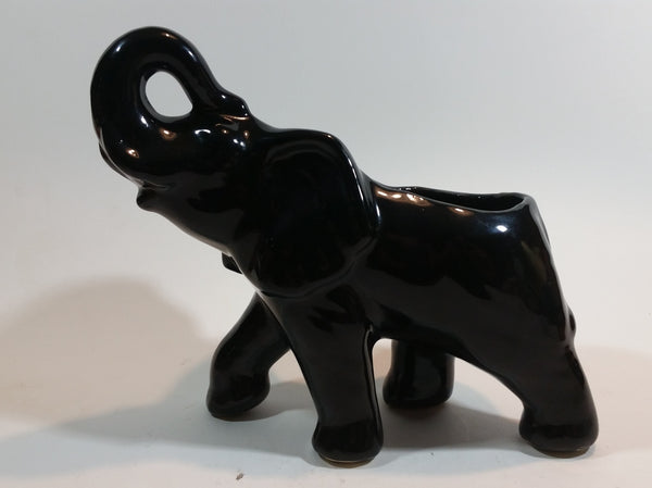 1950s McMaster Pottery Black Elephant Planter - Treasure Valley Antiques & Collectibles