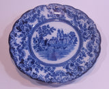 Antique 1890s Togo Colonial Pottery Stoke England Flow Blue Transferware Dinner Plate - Treasure Valley Antiques & Collectibles