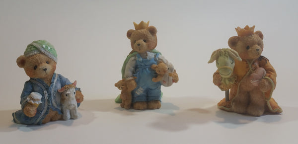 Cherished Teddies Three Kings Figurines Wilbur, Richard, Edward 1992 #950718 In Box - Treasure Valley Antiques & Collectibles