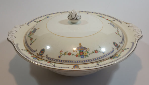"Rare 1930s Johnson Bros England Pareek ""The Adam"" Serving Bowl With Lid"