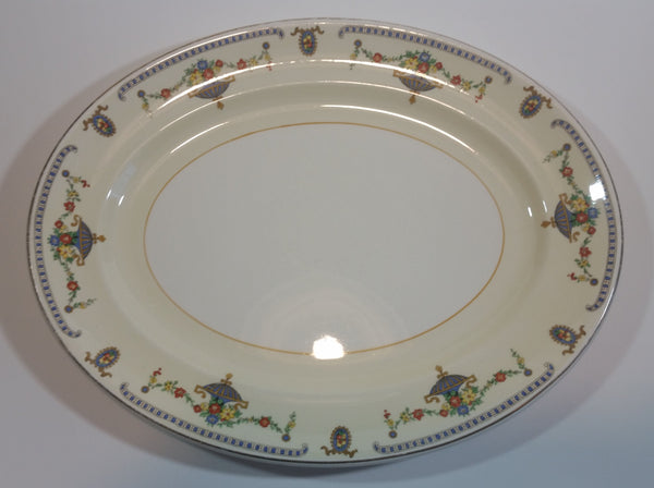 "Rare 1930s Johnson Bros England Pareek ""The Adam"" Serving Platter 11.5"" x 9"" - Treasure Valley Antiques & Collectibles"