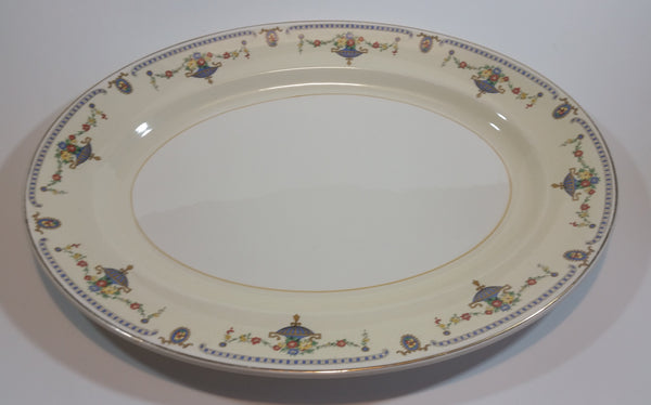 "Rare 1930s Johnson Bros England Pareek ""The Adam"" Large Serving Platter 14"" x 11"" - Treasure Valley Antiques & Collectibles"