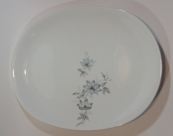 "1950s Johnson Bros England Snowhite Floral Ironstone Large Serving Platter 16"" x 12"" - Treasure Valley Antiques & Collectibles"