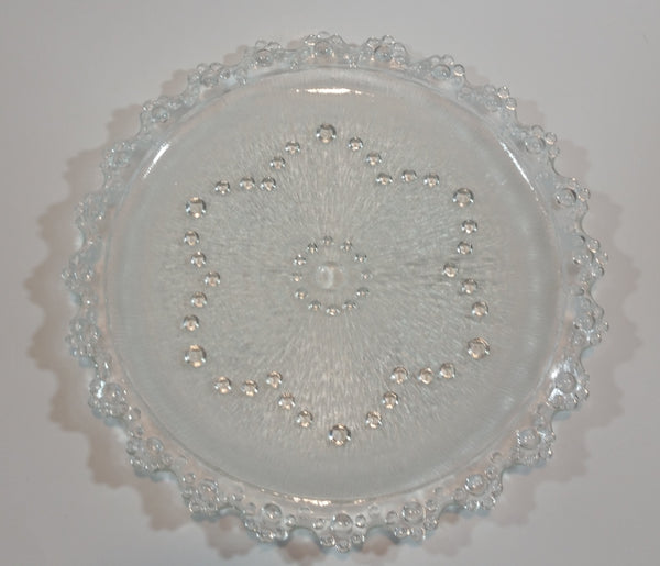 Vintage Hobnail Bubble Ball Pattern Crystal Plate - Treasure Valley Antiques & Collectibles