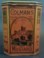 Vintage 1980s Reproduction Replicans Bedford, England Colman's Mustard Storage Tin - Treasure Valley Antiques & Collectibles