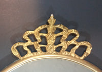 19th Century Gold Gilt Oval Crown Top Mirror - Treasure Valley Antiques & Collectibles