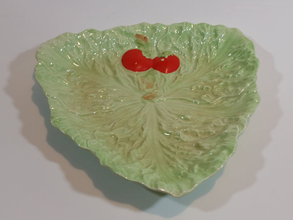 Antique 1930s Carlton Ware Tomato Leaf Shaped Serving Dish - Treasure Valley Antiques & Collectibles