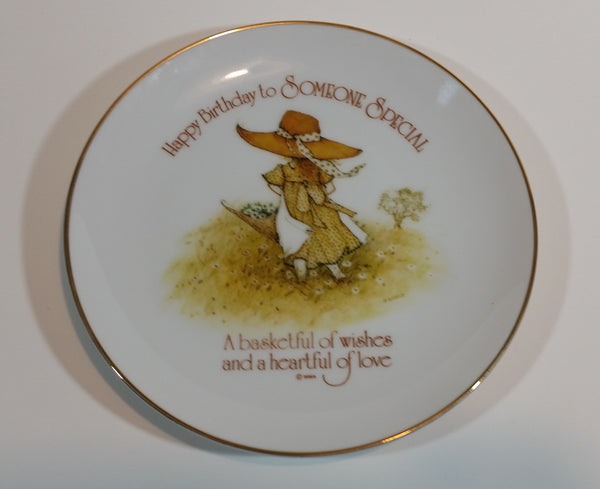 1975 Holly Hobbie Happy Birthday Lasting Memories Collectible Porcelain Plate