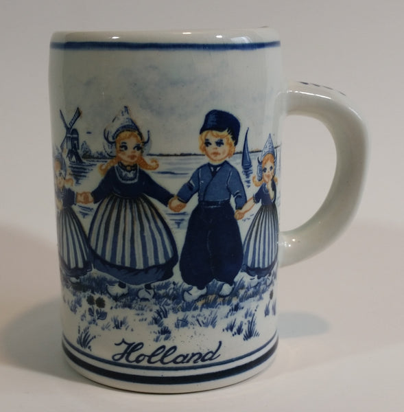 1950s Delfts Blauw Dutch Boy with Girls Stein Mug #442 - Treasure Valley Antiques & Collectibles