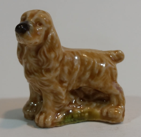 Red Rose Tea Cocker Spaniel Dog Miniature Wade Figurine - Treasure Valley Antiques & Collectibles