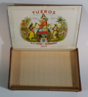1935 Tueros Cigar Box - Havana (Habana) Cuba De J. Teuro y Hermanos Lily - Treasure Valley Antiques & Collectibles