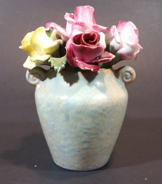 Vintage Aynsley Porcelain Floral China Mixed Rose Bouquet Vase Made in England - Treasure Valley Antiques & Collectibles
