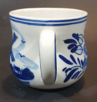 "1980s Exclusive ""Figis INC"" Delft Blue Windmill and Flowers Mug"
