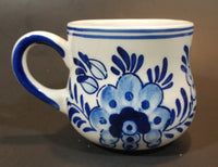 "1980s Exclusive ""Figis INC"" Delft Blue Windmill and Flowers Mug - Treasure Valley Antiques & Collectibles"