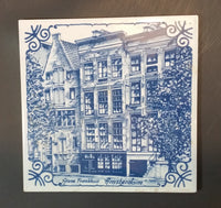 Rare Limited Edition Delft Blue Anne Frankuis (Anne Frank House) Amsterdam Handpainted Tile - Treasure Valley Antiques & Collectibles