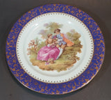 "1970s Limoges France Fragonard 402 B Blue Collectible Plate - 9 1/2"" - Treasure Valley Antiques & Collectibles"