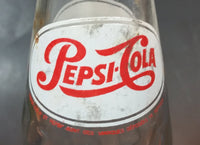 1973 Dual Logo Pepsi-Cola Pepsi 10 Fl oz. Clear Twist Soda Pop Bottle - Treasure Valley Antiques & Collectibles