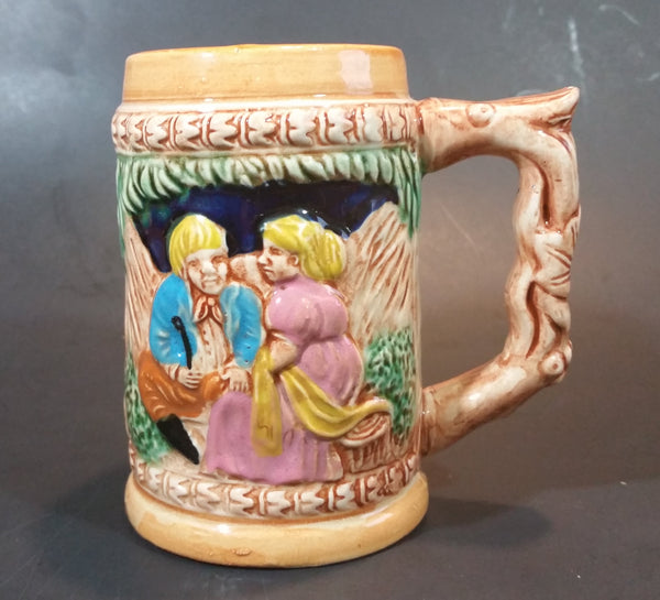 1950s German Oktoberfest Beer Stein Woman and Man Sitting Made in Japan - Treasure Valley Antiques & Collectibles