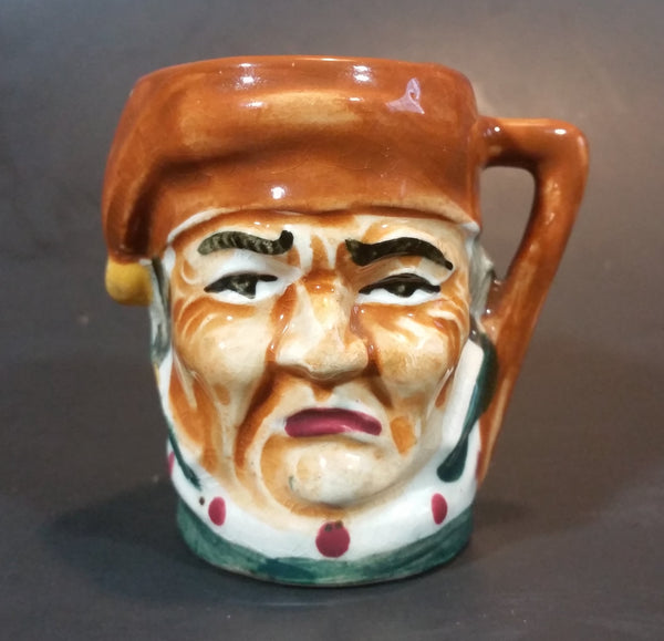 Vintage Mid-Century Miniature Toby Face Mug Man with Sleeping Cap - Japan - Treasure Valley Antiques & Collectibles