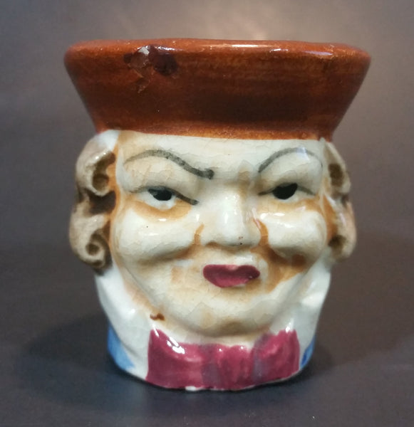 Vintage Mid-Century Miniature Toby Face Mug Colonial Man - Hand Painted - Treasure Valley Antiques & Collectibles
