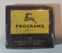 1970s Programa Export A.M. Hirschsprung & Sonner 20 Cigars Cigarettes Tin - Treasure Valley Antiques & Collectibles