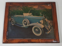 Vintage Framed Advertising Photograph of a 1930s Packard Eight Speedster - Treasure Valley Antiques & Collectibles