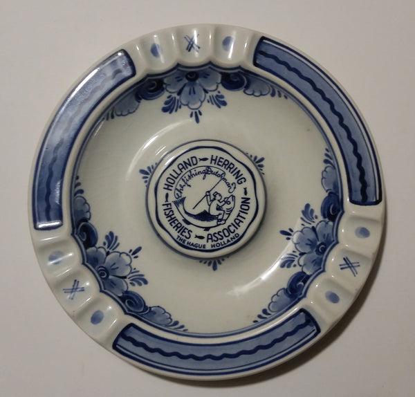 Ultra Rare Delfts Blauw Holland Herring Fisheries Association The Hague Holland Ashtray - Treasure Valley Antiques & Collectibles