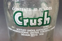 1956 Orange Crush Soda Pop Bottle 10oz Toronto Canada