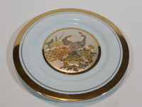 Vintage Peacock Birds The Art of Chokin Plate 24KT Gold with Silver - Treasure Valley Antiques & Collectibles